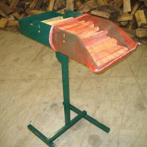 Adjustable Firewood Bag Loading Trays