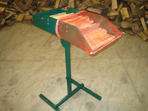 Adjustable Firewood Bag Loading Trays